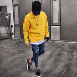 calças de oferta Desconto Big Venda Mens Estilo Europeu e Americano Denim Calças Jovens Mens Roupas Zipper Vintage Jeans Rasgado Oferta Especial