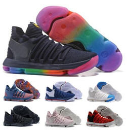 kd basketball sneakers Coupons - Sale Kd 10 Basketball Shoes Mens Red Kevin Durant 10s X Pure Platinum BHM Oreo Triple Lmtd City Series Features Original Shoe Sneakers