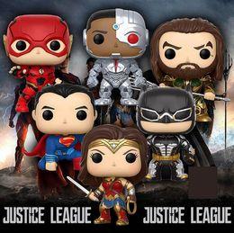 Funko Pop Justice Ligue Batman Wonder Woman Superman le Flash Aquaman Cyborg vinyle Action Figure avec boîte # cadeau de jouet populaire ? partir de fabricateur