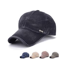 Wholesale baseball standards - 5 Colors Washable Classic Baseball Cap Unisex Adjustable Standard Cotton Hat Outdoor Baseball Hat 20 pcs NNA324