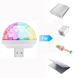 Wholesale Micro Stage - Micro USB Charging 3W Stage Light RGB LED Bulb Type-C LED lamp For Home KTV Disco DJ Dance Party Decoration