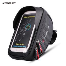 Wholesale touchscreen case - WHEEL UP Bicycle Bag Waterproof MTB Road Bike Bag 6'' Touchscreen Phone Case Cycling Top Frame Handlebar Bike Accessories