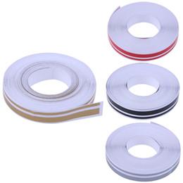 Canada 980 cm X 12 mm Pinstripe Vinyle Autocollant Double Ligne En Fiber De Carbone Rouleau Film Autocollants De Voiture Car Styling Accessoires cheap vinyl tape carbon Offre