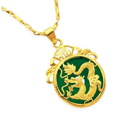 Wholesale Jade Pendant White - 2018 New Men's Necklaces For Women Jewelry Jade Unique Pendant Designs Necklace Charm Color Gold Chain Hip Hop Bling Jewelry Female Gifts
