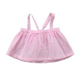 Argentina 2018 Bebés Recién Nacidos Bebés Niñas Chaleco Sin Mangas Camiseta de la Liga Tops Camisetas Blusa Rosa Ropa Linda cheap hot pink infant clothing Suministro
