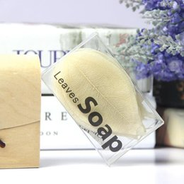 Wholesale Left Hand Wholesalers - Leaves Soap Leaf Soaps 20pcs box Natural Leaves Ice Make Handmade Toilet Soap Hand Wash And Skin Care Products CCA9132 50set