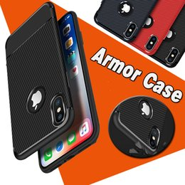 Wholesale Ultimate Iphone - Armor Hybrid Carbon Fiber Shockproof The Ultimate Experience Proptective Soft TPU Slim Cover Case For iPhone X 8 7 Plus 6S Samsung S8 Note 8