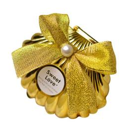 Deutschland Sea Shell Hochzeit Party Favor Halter Schokolade Geschenk Candy Boxen mit Schmetterling Knoten Hochzeit Party Favors Geschenke Gold Silber 20180511 # supplier butterfly favor holders Versorgung