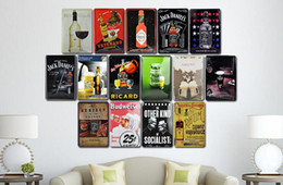 Wholesale poster world - World famous wine Tin Sign metal painting Retro decoration posters bar restaurant bedroom living room decoration