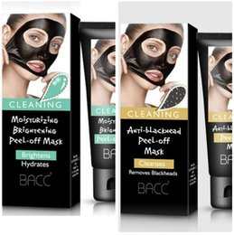 Wholesale Black Heads Removal - BACC Black Face Mask Blackheads Black Head Remover Acne Peel Masks Makeup Beauty Masks From Black Dots Cleaning Acne Removal gift