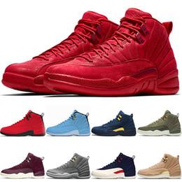 new arrivals bd0a4 d1cc0 Nike Air Jordan 12 Retro 12s Basketball Shoes Designer Mens Trainer 12  Baskaetball Schuhe Universität Blau Vachetta Bulls Rot Dunkelgrau Taxi Der  Master ...