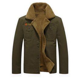 Wholesale Fur Collar Bomber Jacket - 2018 Winter Bomber Air Force Pilot MA1 North Jacket Men Warm Male fur collar Army Jacket tactical Mens Jacket Size 5XL