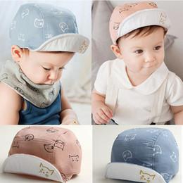 DreamShining Fashion Cat Baby Hats Unisex Girls Boys Gorras de béisbol  Beanie Verano de dibujos animados Sombrero de sol Sombrero de algodón  recién nacido ... 5775b8ae3c7