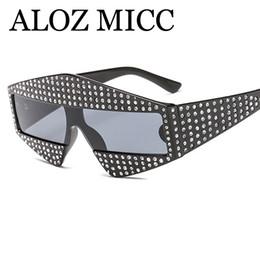 Piezas de diamante online-New Trend Diamond Sunglasses Women 2018 Men Luxury Rhinestone de gran tamaño de una pieza Gafas de sol Diseñador de la marca Unisex Shades A460