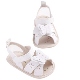 white toddler girls sandals Coupons - New Baby Girls Summer Cute Bowknot Princess Breathable Princess Style Soft Anti-skid Toddler Kids White Sandals