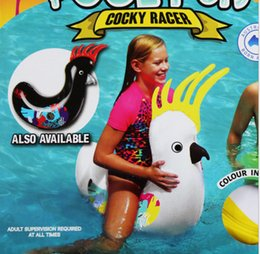 Wholesale inflatable ride animals - Beach Water fun! Summer Children's aquatic animals ride on inflatable toys to float their diving gear swim ring buoy seat