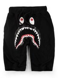 Mode Style Ape Pantalon D'été Vague Carte Shark Mouth Impression Justin Bieber Bande Dessinée Impression Courte Off Hommes De Loisirs D'argent Blanc Pantalon ? partir de fabricateur