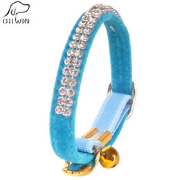 Wholesale Dog Collars Leashes Rhinestones - [GIIWIN] Crystal Dog Collar Leash For Puppy Cat Pet Accessory Product With Bling Rhinestone Necklace For Walking Dogs Cat YS0035