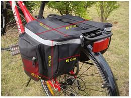 25L Водонепроницаемая горная дорога Велосипедная стойка Задняя задняя сиденье Хвост багажника Двойная корзина для сумок Задняя крышка от дождя и красный от
