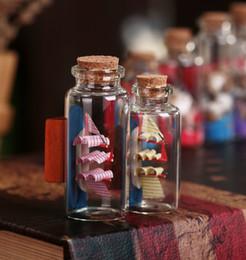 Botellas de deriva online-Artesanía de resina náutica Deseando botella de vidrio de verano Beach Sailing botellas de corcho Drift originalidad regalo decoración del hogar herramientas 2 6fl2 jj