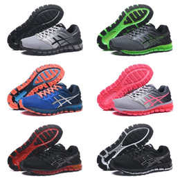 lightweight hiking shoes for men Promo Codes - 2018 Asics Gel-Quantum 360 2 II Running Shoes For men Best Quality Cheap Training Lightweight Online Outdoor Sport Sneakers