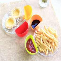 sugar bowls kitchen Promo Codes - Candy Dip Bowl for Assorted Salad Sauce Ketchup Jam Flavor Sugar Spices Dip Clip Cup Bowl Saucer Kitchen Accessories