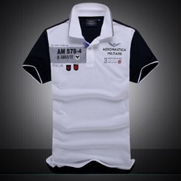 """Wholesale clear air forces - 2018 New Cotton AERONAUTICA MILITARE Air Force One polo shirt Embroidery Aeronautica """" Military"""" Men Military polo shirt #802"""