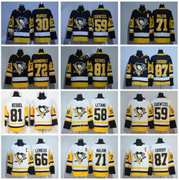 Wholesale Usa Hockey Jersey Xl - 2018 Penguins Jerseys Pittsburgh 87 Sidney Crosby 71 Evgeni Malkin 81 Phil Kessel Jersey Hockey USA Flag 72 Patric Hornqvist 30 Matt Murray