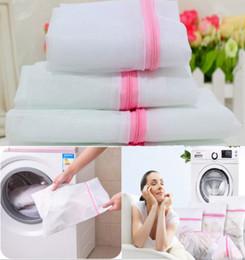 Wholesale mesh laundry bags - 30*40CM Laundry Mesh Net Washing Bag Clothes bra sox Lingerie Socks Lingerie Zipped Laundry Bags 2styles FFA274 300PCS