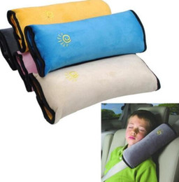 Wholesale Universal Car Seats Covers - Universal Bay Child Car Cover Pillow Baby Shoulder Safety Belts Children Strap Harness Protection seats Cushion Support KKA2165