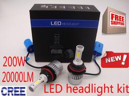Wholesale Led Bulbs For Cars Headlights - 200W 20000LM Headlight Bulbs H1 H4 H7 H11 9007 9006 very Bright LED headlight for car Lights Conversion Kit 6000K White