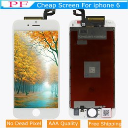 grading panel Coupons - Grade AAAA Quality LCD For iPhone 6 Touch Screen Panels No Dead Pixels Display Digitizer Replacement 4.7inch