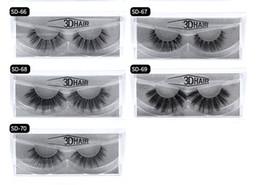 tiras de cabelo sintético Desconto 2018 11 estilos Vendendo 1 par / lote 100% Real Siberian 3D Mink Full Strip Cílios Falsos Longo Cílios Individuais Mink Lashes Extensão