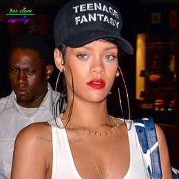 orecchini di celebrità Sconti 10 dimensioni! Summer Style Rihanna Celebrity Jewelry Cerchio d'oro Orecchini grandi Orecchini a cerchio grandi Etichetta oversize
