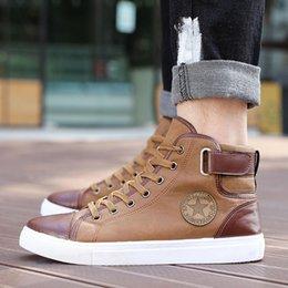 Wholesale Winter Footwear For Men - SZSGCN-2018 New Fashion High Top Men Shoes Canvas Men Casual Shoes For Autumn Winter Male Footwear Patchwork Plus Size EUR36-47