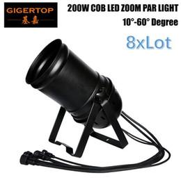 Wholesale dj par can - 8xlot Gigertop TP-P85 200W Led COB Zoom Par Cans 3200k Warm White DMX512 Sound Auto Control Chain Connection DJ Lights for Party Club