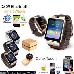 Wholesale Gsm Silver - Exquisite DZ09 SmartWatch Bluetooth phone Mate GSM For IOS Android Phones HTC Samsung Huawei Support Multi languages