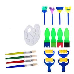 Sünger Fırçalar Palet Yağlıboya Fırça Sanat Malzemeleri 17 adet Çocuk Resim Sergisi Aracı Set Yeni Gelmesi 15 5bm C R nereden