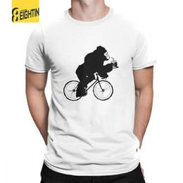 44d14bee9 Silverback Gorilla On A Bike Tees Diseño de algodón purificado de manga  corta Camisetas funky Cuello redondo Camisetas más el tamaño