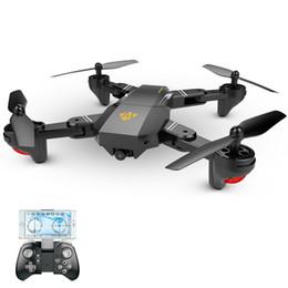 2019 rc helicóptero rotor cámara Selfie Drone con cámara Xs809 Xs809w Fpv Dron Rc Drone Rc helicóptero de juguete teledirigido para niños VISUO Xs809hw Drone plegable rc helicóptero rotor cámara baratos