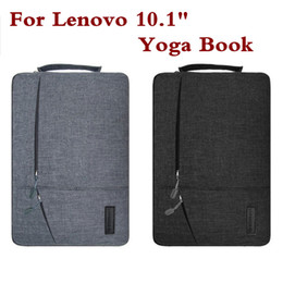 Wholesale Book Case Tablet - Creative Design Laptop Sleeve Pouch For Lenovo yoga book 10.1 Inch Fashion Hand Holder Tablet PC Case Waterproof Bag Pen As Gift
