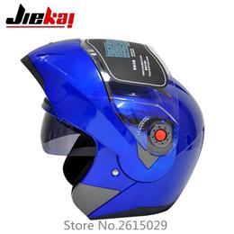 Wholesale Dual Visor Helmets - The latest JIEKAI motorcycle helmets dual lens visors flip up motocross helmets warm windproof sand dust proof