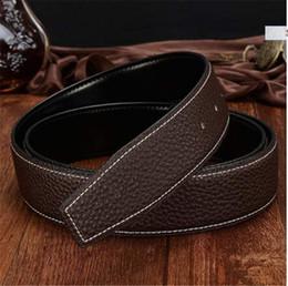 Wholesale Leather Belt For Boys - 2018 brand Men's belts Genuine leather belts Luxury Belt for designer men women smooth Buckle Casual Dress men belts ceinture