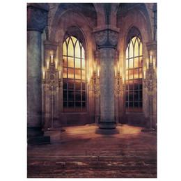 Fondo de tela de vinilo online-EDT-3x5FT Retro Palace Vinyl Cloth Fotografía Prop Studio Telón de fondo Foto de fondo