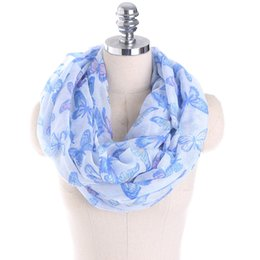 Wholesale Owl Warmer - Women scarf Ladies Owl Leaves Butterfly Dog bandana Print Pattern Scarf Voile Warm Wrap Shawl