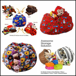 Wholesale Clothes Characters Baby - 43 Colors 61cm Kids Storage Bean Bags Plush Toys Beanbag Chair Stuffed Room Mats Portable Clothes Storage Bag Baby Play Mat CCA8483 20pcs