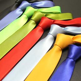 caixas de gravata por atacado Desconto 145 cm Comprimento 5 cm Fino Laços Para Homens Festa de Escritório Casual Todos Os Jogos 2018 Senhores Sólidos Gravata Pescoço Macio Gravata Mens Cravate