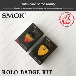 Distintivo elettronico online-100% Originale SMOK Rolo Badge Kit 250mAh Badge Design Built-in 250mAh Batteria sostituibile Pod Kit di avviamento sigaretta elettronica Kit Vape
