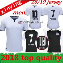 Wholesale Short Black Cup - thai quality 2018 new colo colo soccer jersey away Home18 19 VALDIVIA chile South American Liberation Cup PAREDES VILCHES football shrts