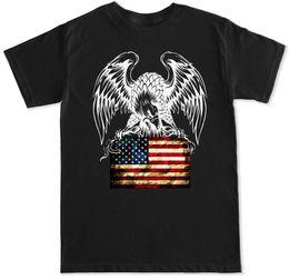 EAGLE FLAG USA AMERIQUE NOUS 21 SAVAGE DANCE EDM HIP HOP TRAP MUSIQUE HOMMES T-SHIRT Manches courtes Coton Mode T-shirt Livraison gratuite ? partir de fabricateur